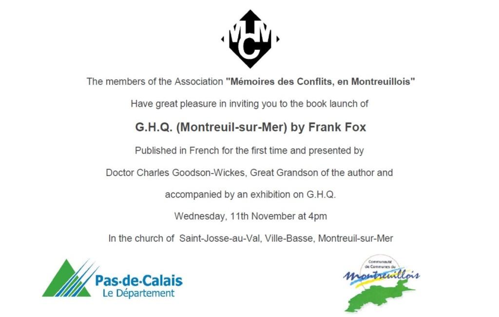 G.H.Q. book invitation