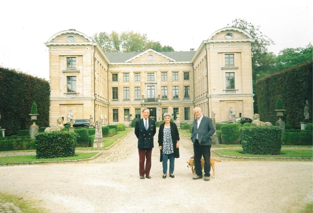 Doctor and Mrs Ludo Schellens, Dr.Charles Goodson-Wickes at the Kasteel Schoonhoven in Aarschot